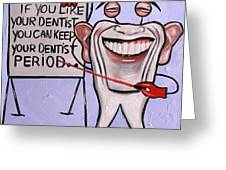 Presidential Tooth Dental Art By Anthony Falbo Greeting Card by Anthony Falbo