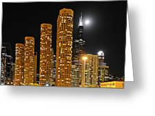 Presidential Towers Chicago Greeting Card by Christine Till
