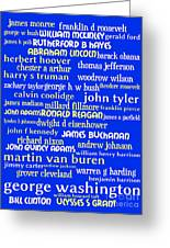 Presidents Of The United States 20130625 Greeting Card by Wingsdomain Art and Photography