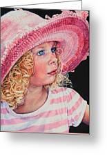 Pretty In Pink Greeting Card by Hanne Lore Koehler