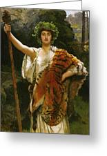 Priestess Bacchus Greeting Card by John Collier