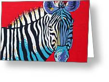 Primarily Zebra Greeting Card by Dorothy Jenson