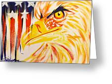 Primary Eagle Greeting Card by Darren Robinson