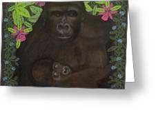 Primordial Spirit of Motherhood Greeting Card by Diana Perfect