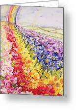 Primrose Rainbow Greeting Card by Joan Thewsey
