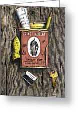 Prince Albert Nailed To The Wall Greeting Card by Bob Hallmark