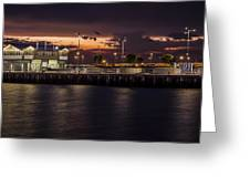 Princes Pier Gateway Greeting Card by Shari Mattox