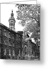 Princeton University Nassau Hall Greeting Card by University Icons