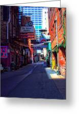 Printers Alley Nashville Tennessee Greeting Card by Dan Sproul