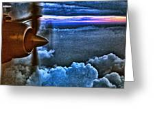 Propeller Sunrise Hdr Greeting Card by Bellesouth Studio