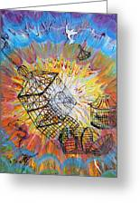 Prophetic Message Sketch 30 Set Free Greeting Card by Anne Cameron Cutri