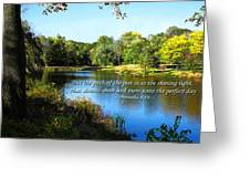Proverb 4-18 Path Of The Just Greeting Card by Susan Savad