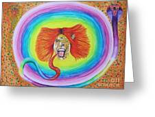 Psychedelic Art Painting Greeting Card by Jeepee Aero