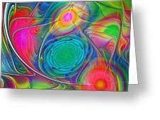 Psychedelic Colors Greeting Card by Anastasiya Malakhova