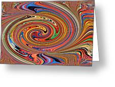 Psychedelic Greeting Card by Kristin Elmquist