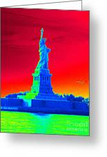 Psychedelic Liberty Greeting Card by Avis  Noelle