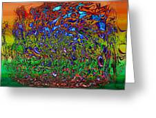 Psychedelic Mind Greeting Card by Linda Sannuti