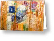 Psychogenesis Greeting Card by Ron Richard Baviello