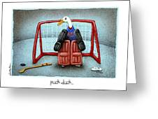 puck duck... by Will Bullas Greeting Card by Will Bullas