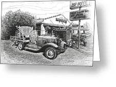 Puckett's Grocery and Restuarant Greeting Card by Janet King