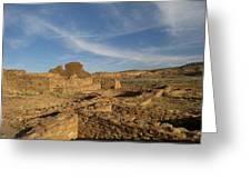 Pueblo Bonito Walls And Rooms Greeting Card by Feva  Fotos
