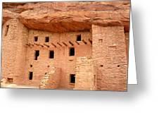 Pueblo Cliff Dwellings Greeting Card by Tony Crehan