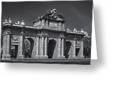 Puerta De Alcala Greeting Card by Susan Candelario