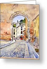 Puerta Elvira Greeting Card by Margaret Merry