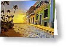 Puerto Rico Collage 2 Greeting Card by Stephen Anderson
