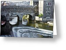 Pulleney Bridge Greeting Card by Bob Phillips