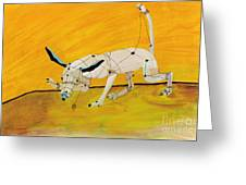 Pulling My Own Strings Greeting Card by Pat Saunders-White