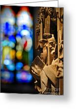 Pulpit Trinity Cathedral Pittsburgh Greeting Card by Amy Cicconi