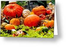 Pumpkin Harvest Greeting Card by Karen Wiles