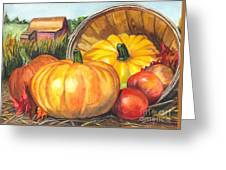 Pumpkin Pickin Greeting Card by Carol Wisniewski