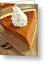 Pumpkin Pie Greeting Card by Elena Elisseeva