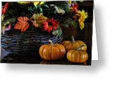 Pumpkin Still Life Greeting Card by Kenny Francis