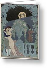 Puppets Greeting Card by Georges Barbier