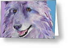 Puppy Dog Greeting Card by Pat Saunders-White