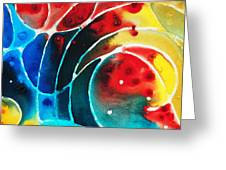 Pure Joy 2 - Abstract Art By Sharon Cummings Greeting Card by Sharon Cummings