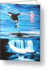 'pure Water Systems' Greeting Card by Christian Chapman Art