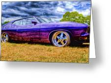 Purple Falcon Coupe Greeting Card by Phil 'motography' Clark