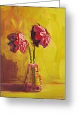 Purple Flowers Greeting Card by Patricia Awapara