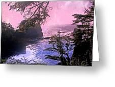 Purple Haze Greeting Card by Marty Koch