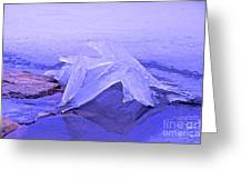Purple Ice Greeting Card by Randi Shenkman