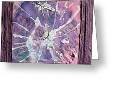 Purple Leaves Greeting Card by Nora Padar