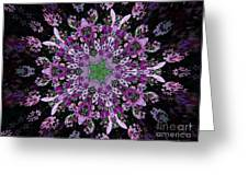 Purple Lilac Kalidescope Greeting Card by Michelle Frizzell-Thompson