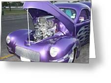 Purple Monster Greeting Card by John Telfer