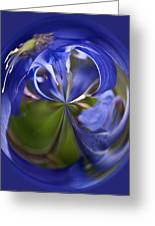 Purple Orb Greeting Card by Ron Roberts