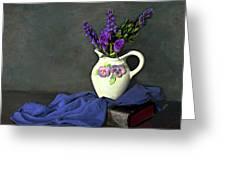 Purple Pardon Greeting Card by Diana Angstadt