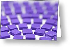 Purple Pattern Greeting Card by Amy Cicconi